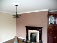 Fire and smoke damaged sitting room after restoration by FutureRestore Fire & Flood Restorations,Donegal,  Ireland